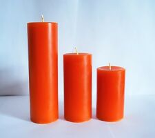 3 scented pillar candles different heights pick your color and scent