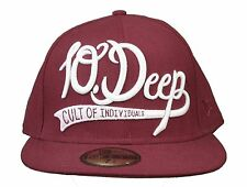 10 Deep Burgundy White Cult Individuals Omega New Era 59FIFTY Fitted Hat 7 5/8