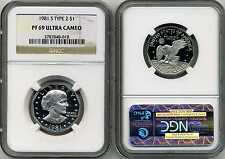 1981-S Clad Type 2 Susan B. Anthony NGC PF 69 UCAM * Price Guide $175 *