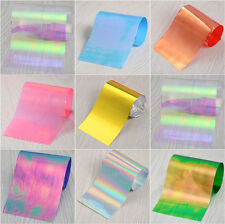 20 Sheets Laser Starry Sky Foils Nail Art Sticker Broken Glass Glitter Manicure