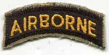 US Army Airborne Yellow Black Patch Tab Cut Edge Tan Border