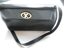 Elegant By Paloma Picasso Black Leather Shoulder Bag - Made in Italy