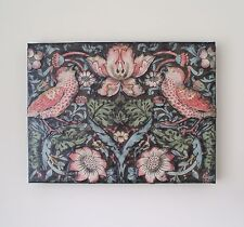 WILLIAM MORRIS - STRAWBERRY THIEF WALLPAPER - DECOUPAGED ART CANVAS