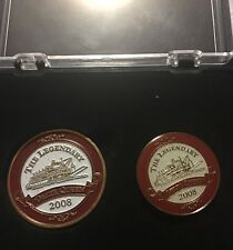 Delta Queen Set Coin and Pin 2008 Legendary Cruise Ship Original Packaging