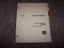 John Deere 500A 500 A JD500A Loader Technical Repair Service Shop Manual TM1025