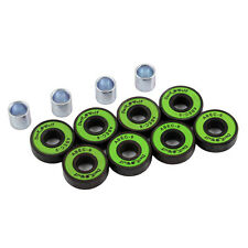 Dark Wolf Skateboard Bearings ABEC 9 Speed Stainless Green 8pcs with 4x Spacer