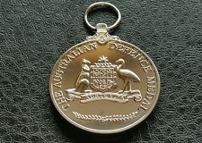 COMMEMORATIVE SILVER PLATED AUSTRALIAN DEFENCE MILITARY WAR MEDAL FOR SERVICE