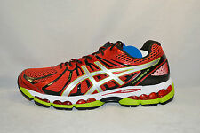 Asics Gel Nimbus 15 Mens Running Shoes Sz 10.5 NEW CHINESE RED SILVER LIME GREEN