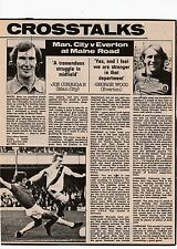 JOE CORRIGAN/PETER BARNES MANCHESTER CITY GEORGE WOOD ORIG SIGNED MAG CUTTING