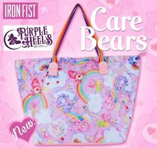 Iron Fist Care Bears Clouds of Caring Pink Rainbow Oversized Tote Bag