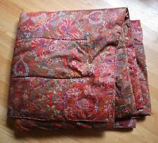 "RALPH LAUREN Galahad RED PAISLEY BEDDING XL Long Twin Comforter 44"" x 95"" *READ*"