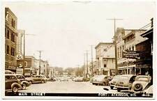 Fort Atkinson WI Street Vue Crystal Soda Grill Stores RPPC Real Photo Postcard