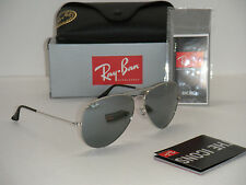 Ray Ban Aviator RB3025 Silver Frame with Silver Mirror RB 3025 003/40 62mm Large