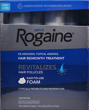 4 Months - Rogaine for Men Hair Regrowth 5% Minoxidil Topical Foam, Exp 12/2017