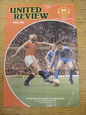30/08/1980 Manchester United v Sunderland  (Creased, Worn)