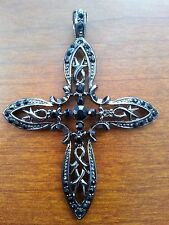 CROSS WITH RHINESTONE  DESIGN PENDANT CHARM