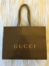 Authentic Gucci Glossy Brown Paper Shopping Gift Bag