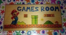 Super Mario Scene Plaque / Sign - Gift Room Door Games Kids Son xBox PS4 183