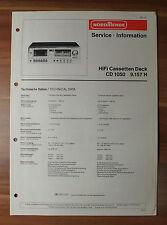 HiFi Cassetten Deck CD1050 9.157H Nordmende Service Manual Serviceanleitung