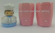 20 pcs Pink Red Polka Hexagonal Cupcake Liner Baking Paper Cups Candy Holder
