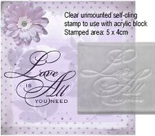 Love Is All You Need, Clear Unmounted Script Stamp For Wedding Cards and Favours