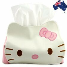 Hello Kitty Car Desk Home Tissue Box Cover Napkin Holder Pink White HKTIS 5558