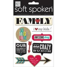 ME & MY BIG IDEAS MAMBI SOFT SPOKEN FAMILY SO MUCH LOVE 3D SCRAPBOOK STICKERS