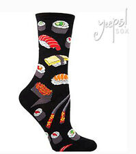 Sushi Socks - Socksmith NEW funky novelty Crew Socks black