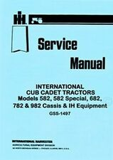 CUB CADET 582 Specia 682 782 982 Chassis Service Manual