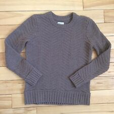L.L. Bean Signature Sz M Medium Women's Fisherman Sweater Cable Knit Brown (I5)