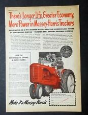 Orig 1951 Massey Harris Tractor Ad Model 44 THERE'S LONGER LIFE GREATER ECONOMY