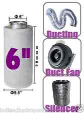 6 inch carbon filter+ducting+duct fan+silencer kits for Hydroponics Grow Room