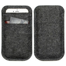 "Dark Grey For Apple iPhone 7 4.7"" Wool Felt Pouch Bag Sleeve Card Wallet Case"