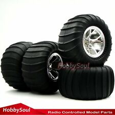 4pcs RC 1/10 Big Foot Soft Tires Hex 12mm Wheels For Wild Monster Crawle Truck
