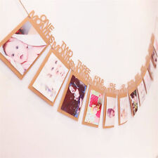 12ft 1st Birthday Party First 12 Months Photo Garland Bunting Banner