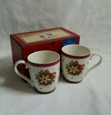 ❀ڿڰۣ❀ VILLEROY & BOCH ❀ڿڰۣ❀ WINTER BAKERY DELIGHT COOKIE ❀ SET of 2 MUGS ❀ BNIB