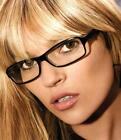 WOMENS LADIES GEEK NERD FASHION GLASSES SUNGLASSES CLEAR LENS BLACK FANCY DRESS