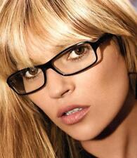 WOMENS LADIES GEEK NERD FASHION GLASSES SUNGLASSES CLEAR LENS BLACK FANCY DRESS