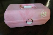 Caboodles Case Vintage Pink Swirl Cosmetic Makeup Travel Train Mirror Suitcase
