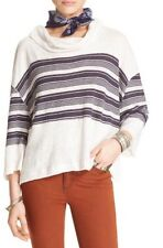 Free People 'Seaside' Cowl Neck Pullover- Nautical Combo- Medium- $68