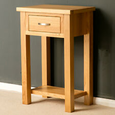 London Oak Small Hall Table / Telephone Table / Solid Wood Console / Brand New