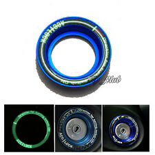 Blue Luminous Ignition Keyhole Lock Ring Decor Protector For Ford Focus