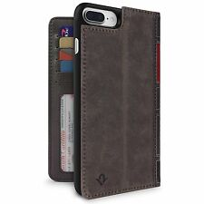 Twelve SOUTH BOOKBOOK 3 in 1 Genuine Leather Wallet Custodia Cover iPhone 7 PLUS MARRONE