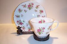 Queen's Moss Rose Bone China Cup and Saucer England