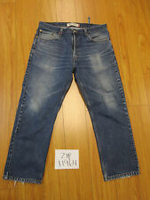 Levi 505 reg fit broken belt loop grunge jean tag 38x30 Meas 36x28.5 zip11964