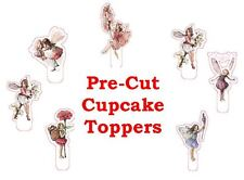 GARDEN FLOWER FAIRIES X24 edible stand up cup cake toppers wafer paper *pre-cut*
