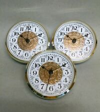 "3-Pack CLOCK FIT UP FANCY FACE white & gold, insert, 3 1/2"" dia, (_52) NEW, #333"