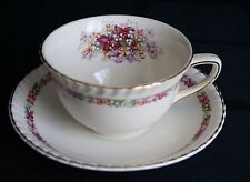 Johnson Bros. Old English Queen's Bouquet Cups and Saucers Set of 4
