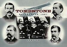 Wyatt Earp, Doc Holliday etc Gunfight OK Corral Tombstone Arizona 1881, Postcard