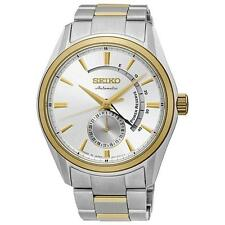 SEIKO MEN'S PRESAGE 42MM TWO TONE STEEL BRACELET AUTOMATIC ANALOG WATCH SSA306